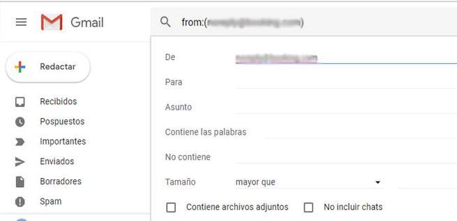 Bloquear mensajes en Gmail