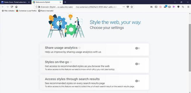 La extensión Stylish vuelve a estar disponible en Firefox
