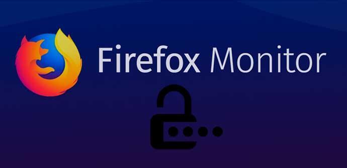 Contraseñas Firefox Monitor