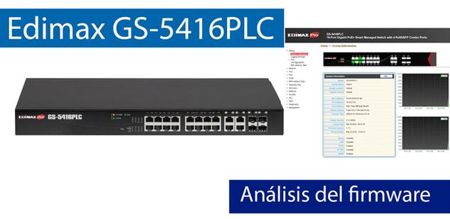 Ver noticia 'Conoce el firmware del Edimax GS-5416PLC en nuestro completo vídeo'