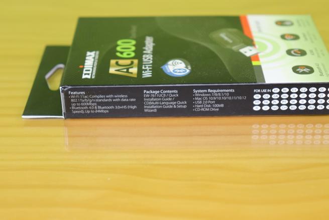 Lateral izquierda de la caja del Edimax EW-7611UCB