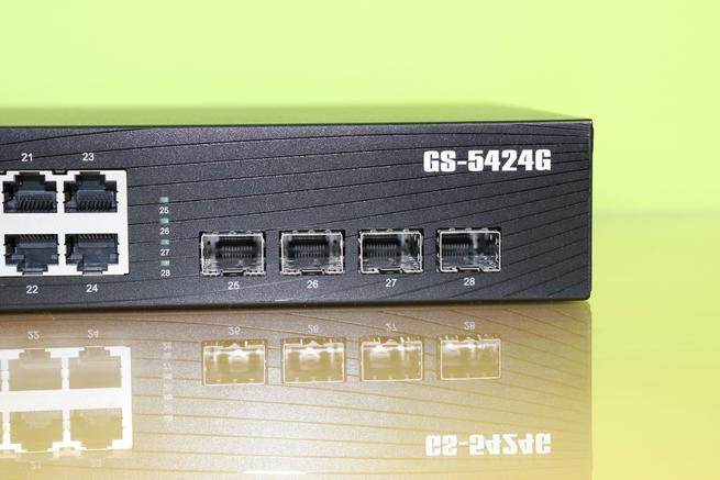 Puertos SFP para fibra del switch Edimax GS-5424G