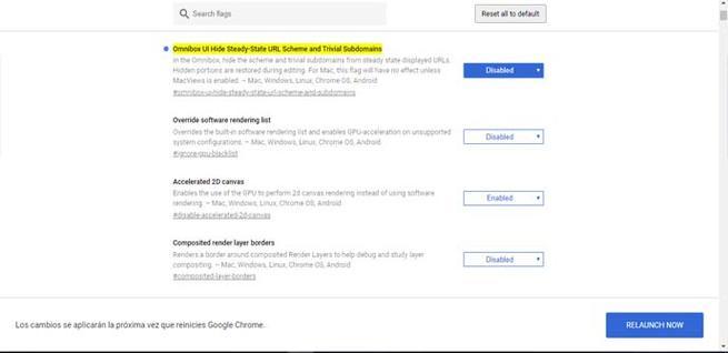 Cómo devolver el indicador de HTTPS y WWW en Google Chrome