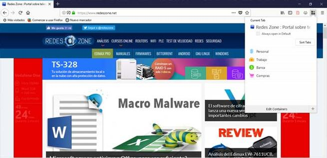 Extensión Firefox Multi-account