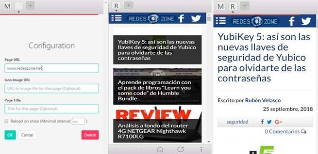 Chromenu, el mini navegador para cargar webs en versión móvil