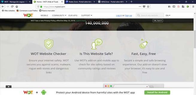 MyWOT, la extensión que nos avisa si hay un riesgo de seguridad
