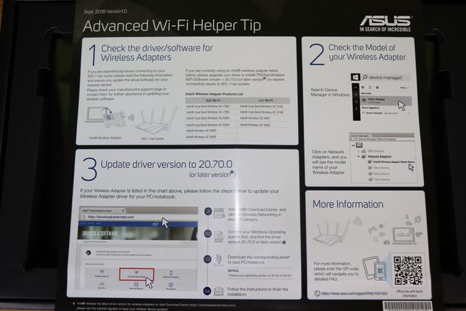 Folleto para Intel sobre los drivers y el router ASUS RT-AX88U