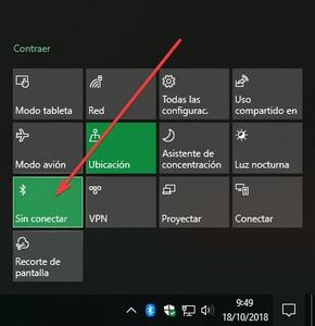 Activar o Desactivar Bluetooth en Windows 10