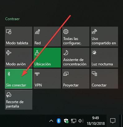 activar bluetooth windows 7 portatil