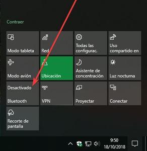 Activar o Desactivar Bluetooth en Windows 10