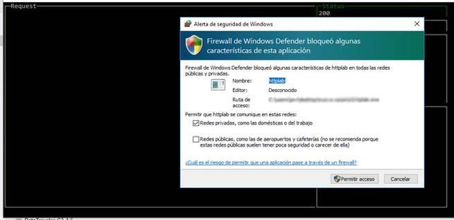Prueba de Httplab en Windows 10