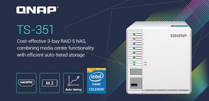 Ver noticia 'QNAP TS-351: Conoce este NAS de gama alta con CPU Intel para entorno doméstico'