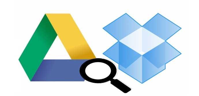 Buscar archivos en varias cuentas de Dropbox y Drive