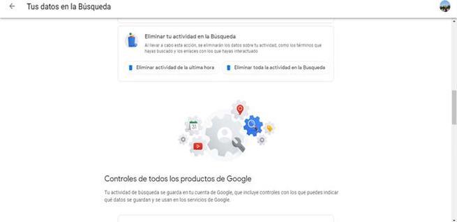 Eliminar el historial de búsquedas de Google