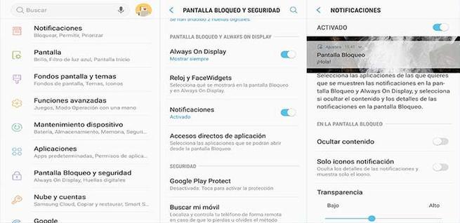 Quitar las notificaciones en la pantalla de bloqueo del móvil