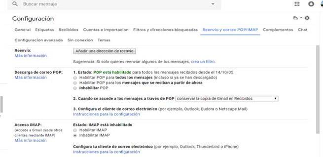 Reenviar correos de Gmail a otras cuentas