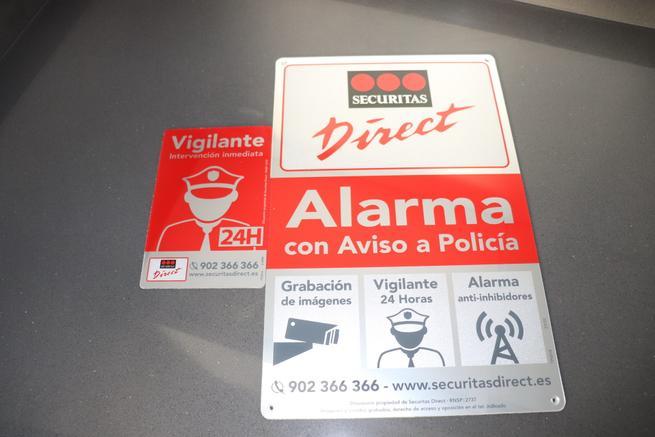 Carteles disuasorios de la Alarma Securitas Direct