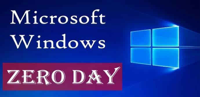 Nueva vulnerabilidad de Zero-Day de Windows