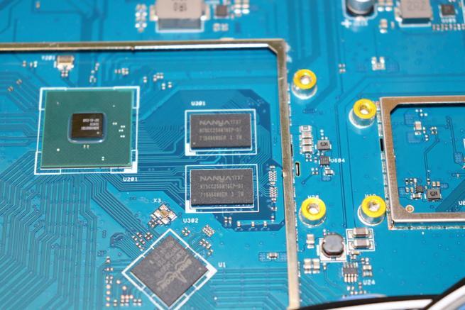 Memoria RAM con 1GB de capacidad total del router ASUS RT-AX88U