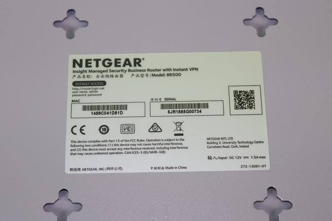 Router profesional del router NETGEAR Insight Instant VPN Router BR500 en detalle