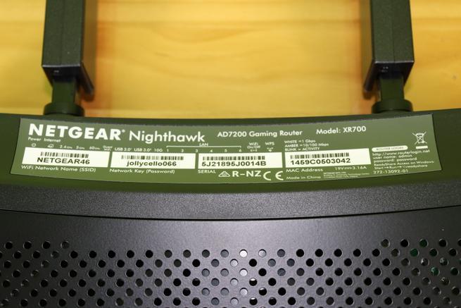 Pegatina del router gaming NETGEAR Nighthawk Pro Gaming XR700