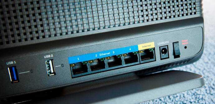 Puertos router vulnerable