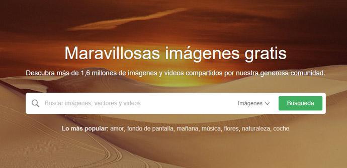 Buscador de imágenes Pixabay