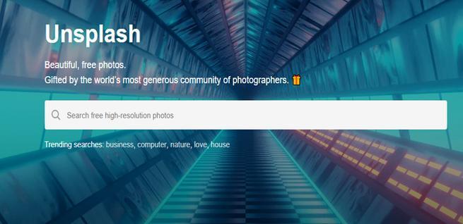 Unsplash, una de las alternativas a Google