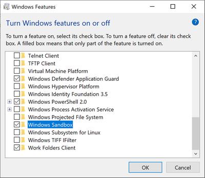 Activar Windows Sandbox