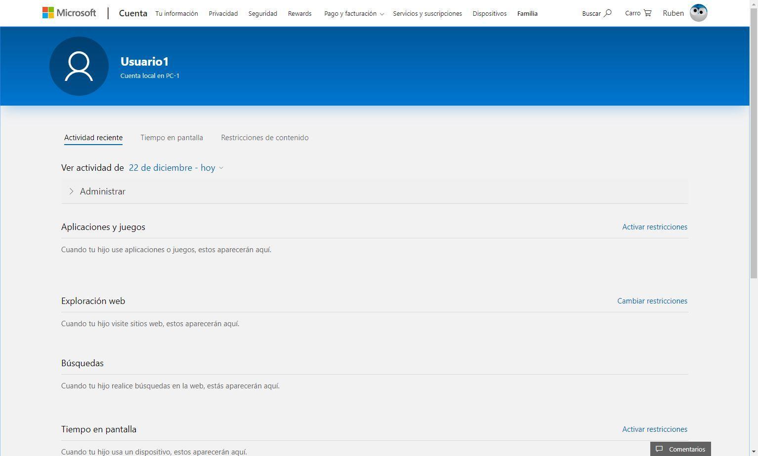 Cuenta Microsoft Xbox - Configurar cuenta menor 3