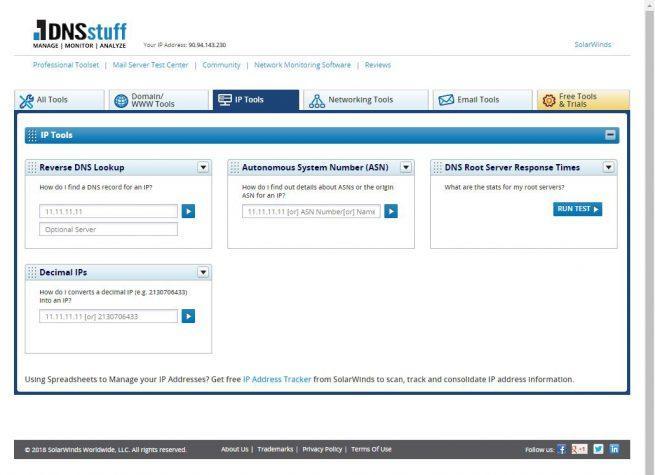 DNSstuff - Kit herramientas 2