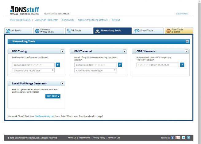 DNSstuff - Kit herramientas 3