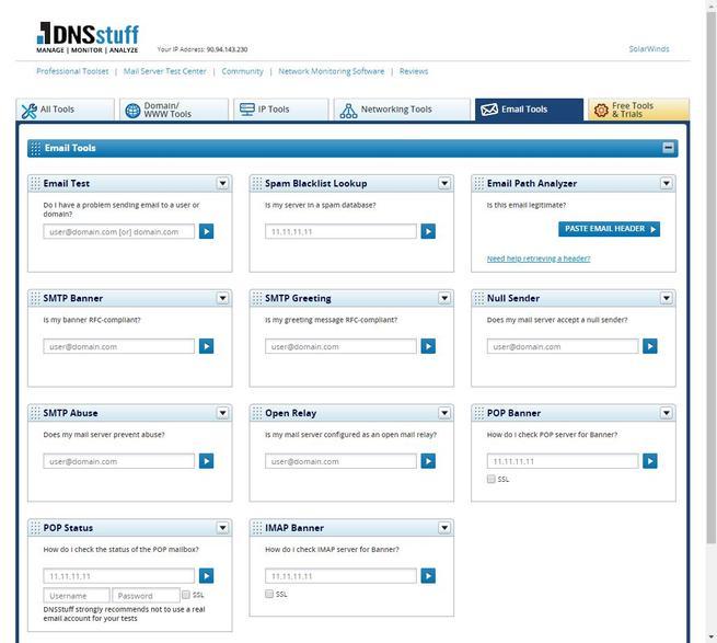 DNSstuff - Kit herramientas 4