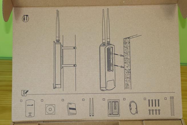 Instrucciones de montaje del AP profesional Edimax OAP1300