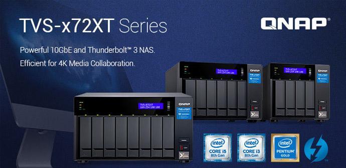 Ver noticia 'QNAP lanza su nueva serie de NAS QNAP TVS-x72XT con puertos 10GbE y Thunderbolt 3'