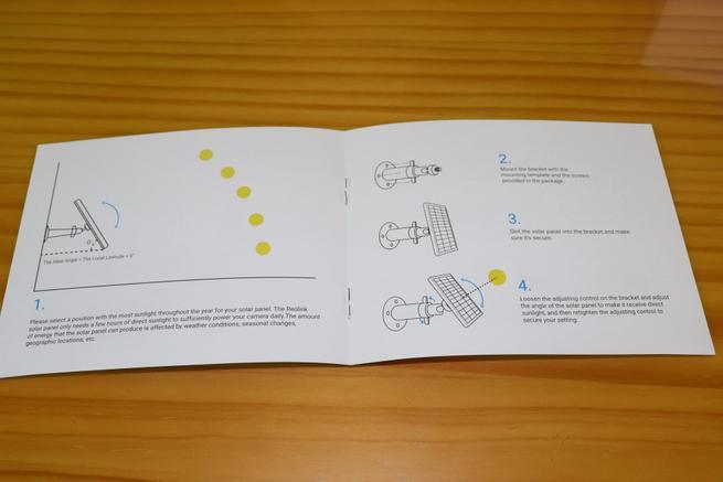 Instrucciones de instalación del panel solar Reolink Solar Panel