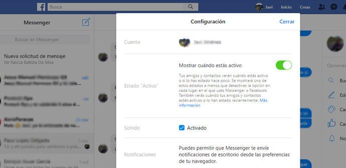 Aparecer desconectado en Facebook