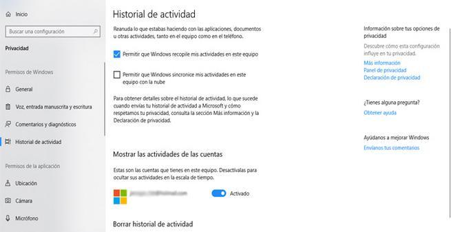 Evitar que Microsoft recopile datos