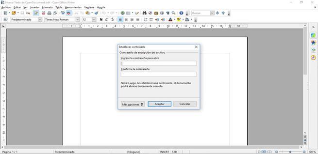 Cómo cifrar documentos en OpenOffice