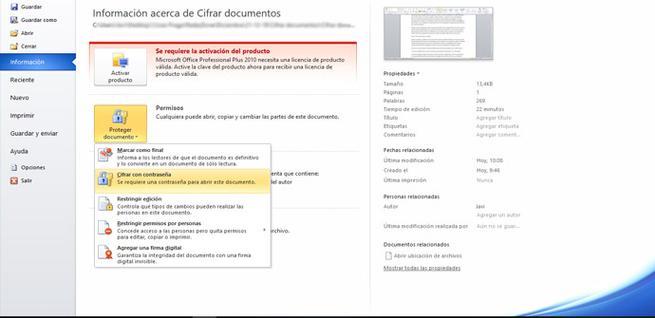 Cómo cifrar documentos en Microsoft Word