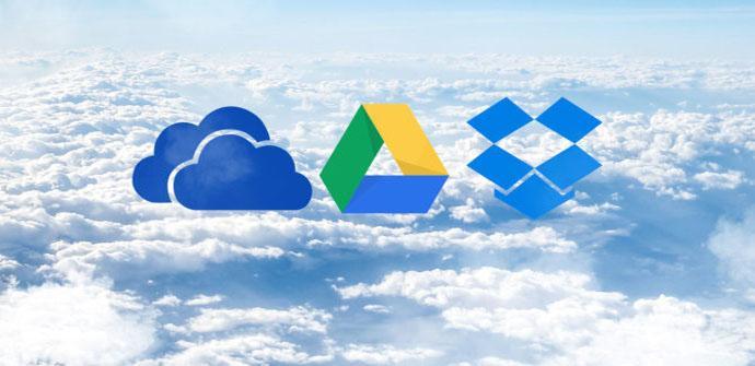 Diferencias entre Google Drive, OneDrive y Dropbox