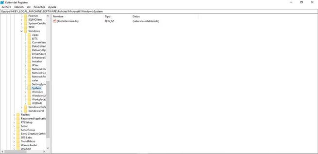 Bloquear el historial de actividades en Windows 10 con el Editor del Registro