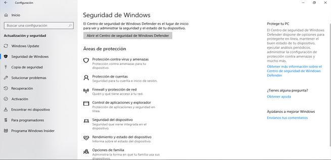 Acceder a la seguridad de Windows