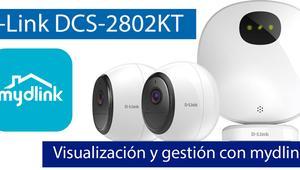 Visualización y administración del sistema de videovigilancia D-Link DCS-2802KT con mydlink