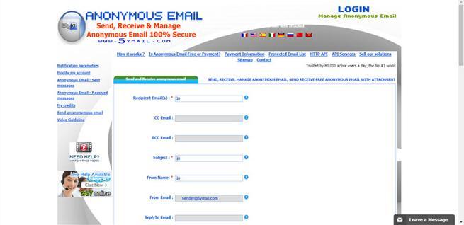 5ymail, correos temporales