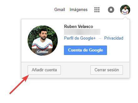 Añadir nueva cuenta Google