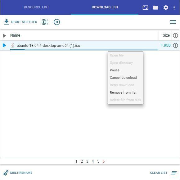 Descarga con Simple Mass Downloader
