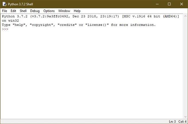 IDLE Python 3.7