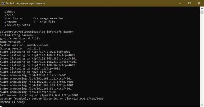 IPFS - Configuración en Windows 3