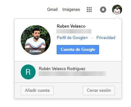 Varias cuentas de Google iniciadas